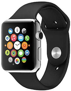 G-Tab Smart Watch Silicone Band For iOS,Black - W101 Hero