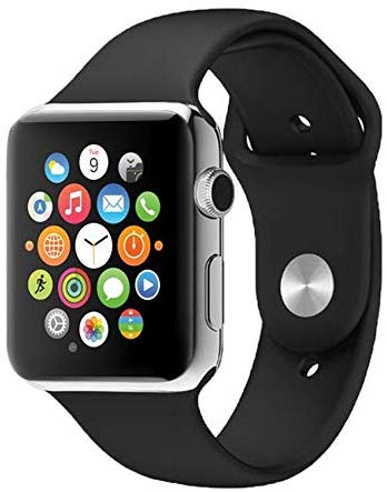 G-Tab Smart Watch Silicone Band For iOS,Black - W101 Hero - TUZZUT Qatar Online Store