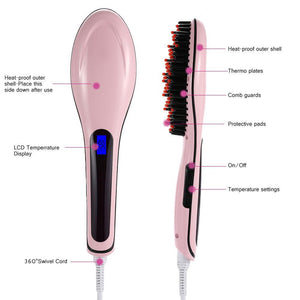 Fast Hair Straightening Brush - TUZZUT Qatar Online Store