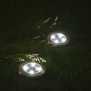 LED Solar Powered In-Ground Lights - Solar Pathway Lights (2 Pcs Value Pack) - TUZZUT Qatar Online Store