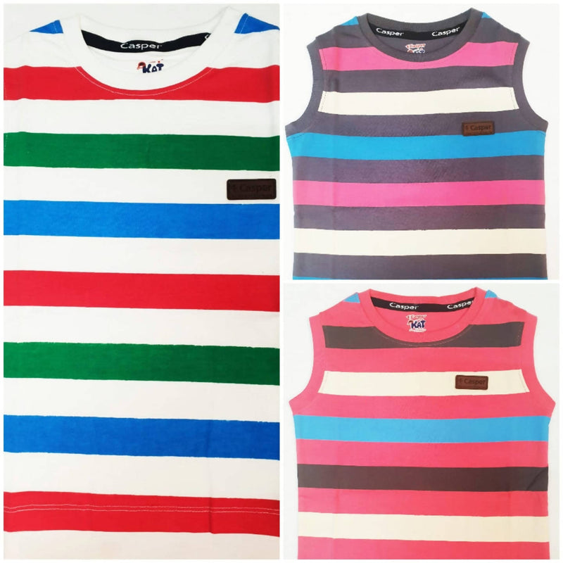 Boys Round neck Sleeveless T-shirt pack of 3 - TUZZUT Qatar Online Store