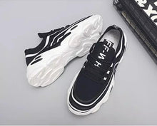 Load image into Gallery viewer, Trending Fashion Breathable Non-slip Tennis Sneakers Men Shoes - Model 9920 (Black-White) - TUZZUT Qatar Online Store