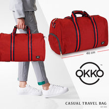Load image into Gallery viewer, OKKO Travel Bag GH-204, Size 46 - Red - TUZZUT Qatar Online Store
