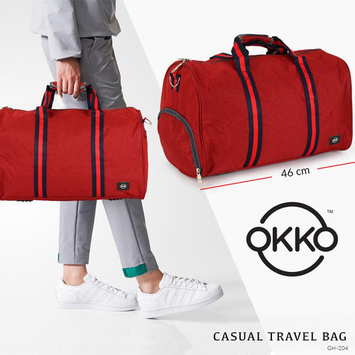 OKKO Travel Bag GH-204, Size 46 - Red - TUZZUT Qatar Online Store