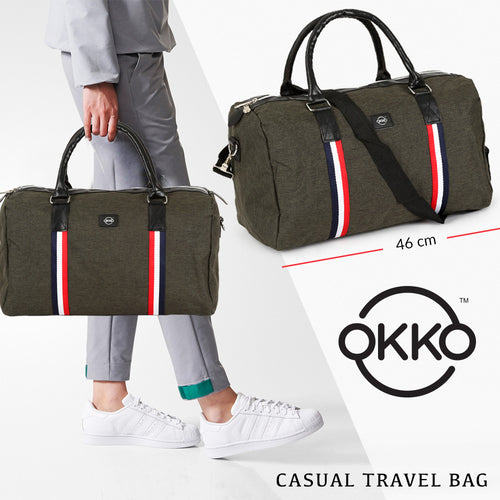 OKKO Casual Travel Bag, GH-203 - Green - TUZZUT Qatar Online Store