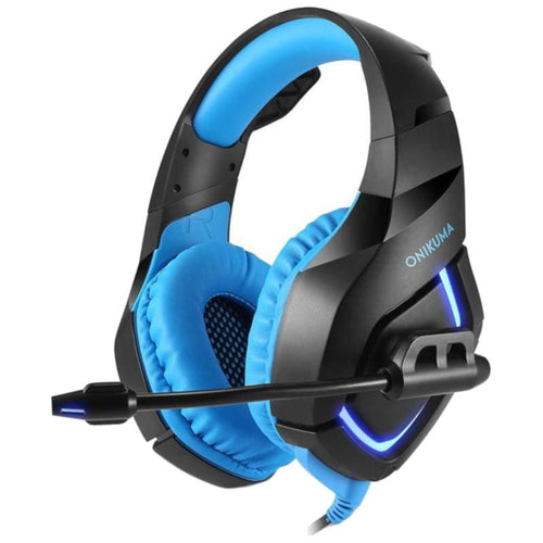 ONIKUMA K1B 3.5mm Over-Ear Stereo Gaming Headset with Microphone and LED Light for PS4, Xbox One, Laptop, PC - TUZZUT Qatar Online Store
