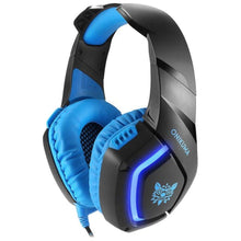 Load image into Gallery viewer, ONIKUMA K1B 3.5mm Over-Ear Stereo Gaming Headset with Microphone and LED Light for PS4, Xbox One, Laptop, PC - TUZZUT Qatar Online Store