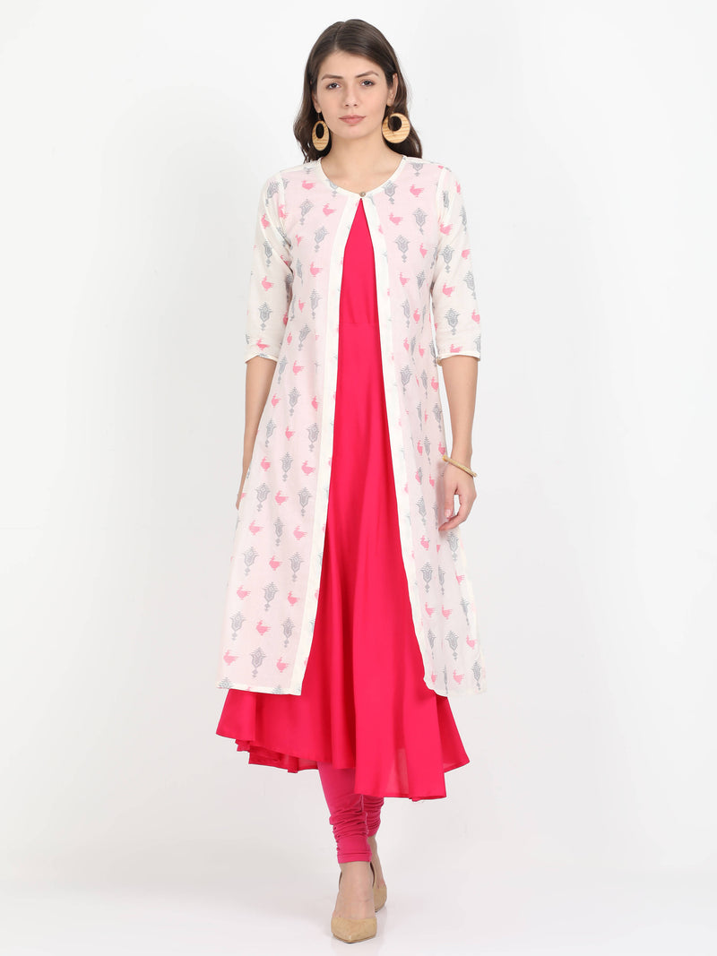 Women Long Kurta with Detachable Top - TUZZUT Qatar Online Store