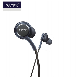 PATEK Earphones Headphones Headset Handsfree with Mic- P- 555 -(Black) - TUZZUT Qatar Online Store