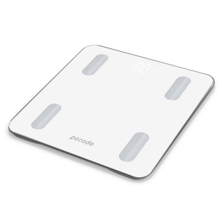 Digital Weight Scale, Porodo Lifestyle Smart Bluetooth Full Body Fat Scale, Works with Bluetooth on iOS and Android - TUZZUT Qatar Online Store