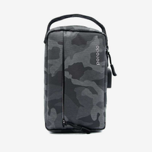 "Load image into Gallery viewer, Porodo Convenient Leather Storage Bag 8.2"" Black Camo - IPX3 Water-Resistant"