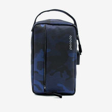 "Load image into Gallery viewer, Porodo Convenient Leather Storage Bag 8.2"" Blue Camo - IPX3 Water-Resistant"