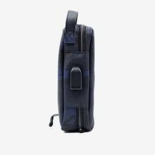 "Load image into Gallery viewer, Porodo Convenient Leather Storage Bag 8.2"" Blue Camo - IPX3 Water-Resistant - TUZZUT Qatar Online Store"