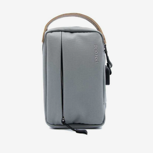 "Porodo Convenient Leather Storage Bag 8.2"" Grey - IPX3 Water-Resistant"