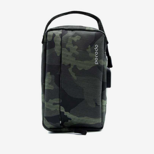 "Porodo Convenient Leather Storage Bag 8.2"" Light Green Camo - IPX3 Water-Resistant - TUZZUT Qatar Online Store"