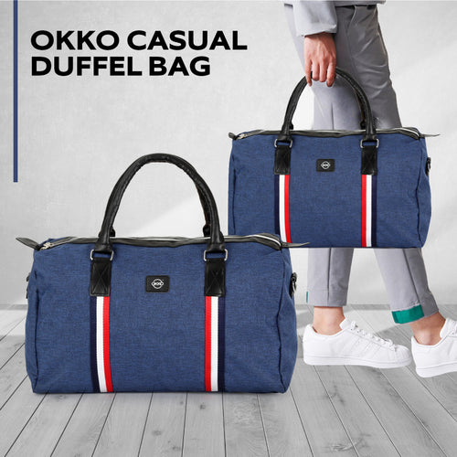 OKKO Casual Travel Bag, GH-203 - Blue - TUZZUT Qatar Online Store