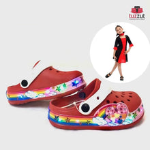 Load image into Gallery viewer, Kids Beach Outdoor Cartoon LED Light Sandals Slippers for Girls - Red - TUZZUT Qatar Online Store