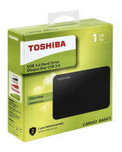 Load image into Gallery viewer, Toshiba Canvio Basics 1TB Portable External Hard Drive - Black (4041K11)