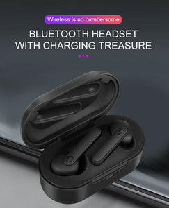 DT-5 TWS Wireless Bluetooth Headset 5.0 HIFI Earbuds Earphone Stereo Headphone