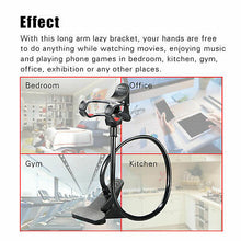 Load image into Gallery viewer, Universal Flexible Long Arm Desktop Bed Lazy Bracket Phone Holder Mount Stand - TUZZUT Qatar Online Store