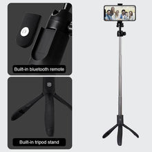 Load image into Gallery viewer, K06 Handheld Extendable Tripod Monopod Mobile Phone Selfie Stick with Rear Mirror Bluetooth Remote Shutter - TUZZUT Qatar Online Store