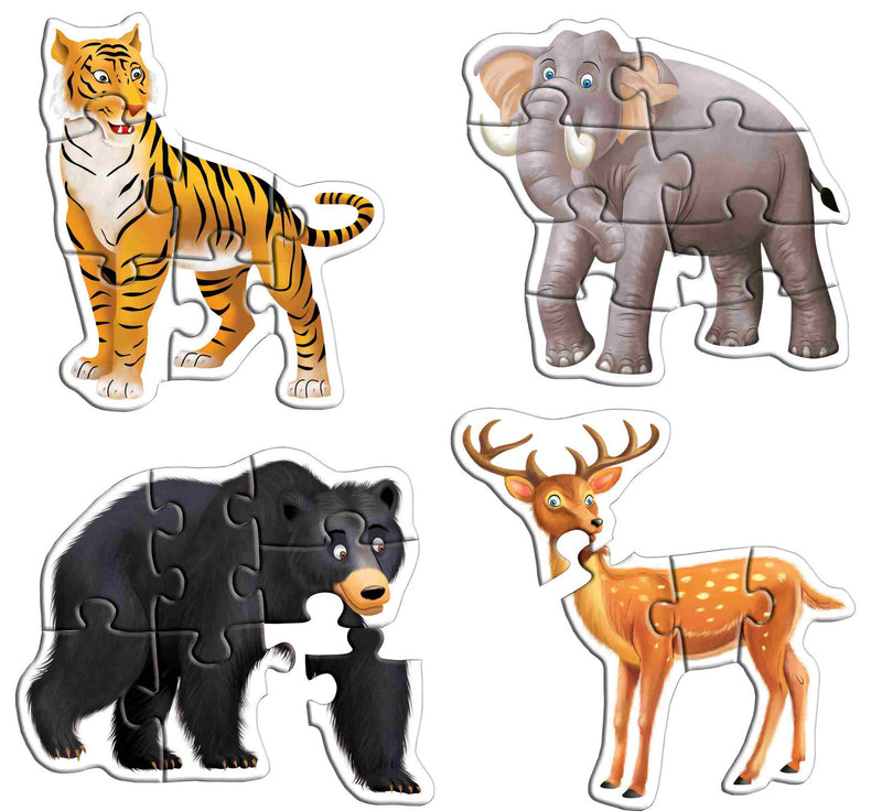 Early Puzzles Step II-Wild Animals - TUZZUT Qatar Online Store