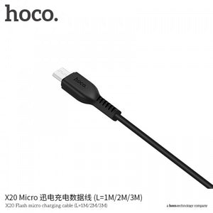HOCO X20 Flash Charging Cable Micro USB 3m 2.4A Desert Camel