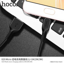 Load image into Gallery viewer, HOCO X20 Flash Charging Cable Micro USB 3m 2.4A Desert Camel - TUZZUT Qatar Online Store