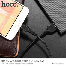 Load image into Gallery viewer, HOCO X20 Flash Charging Cable Micro USB 3m 2.4A Desert Camel
