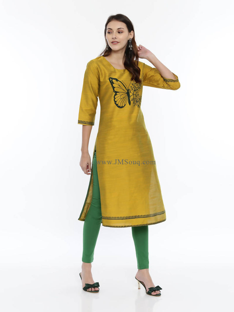 Women Cotton Silk Long Kurta - TUZZUT Qatar Online Store