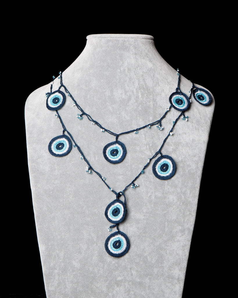Lariat with Circle Motif -  Evil Eye