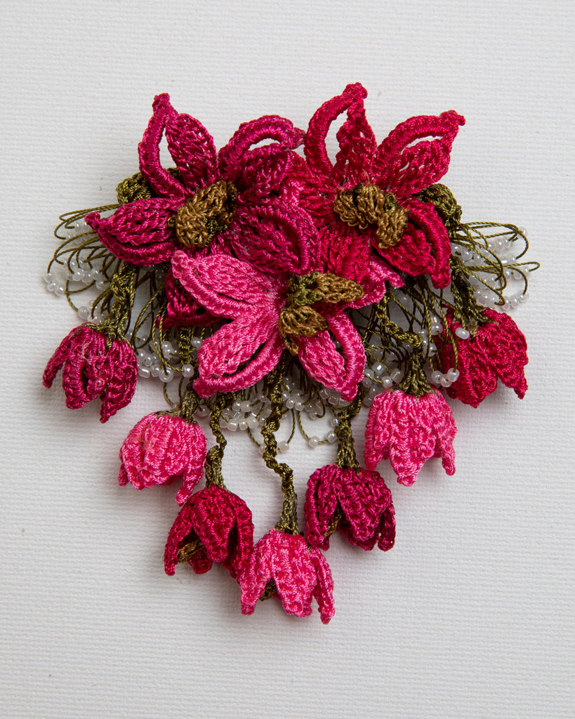 Brooch Star - Fuschia