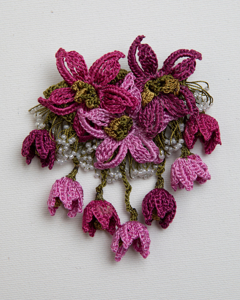 Brooch Star - Plum