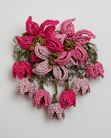 Brooch Star - Rose