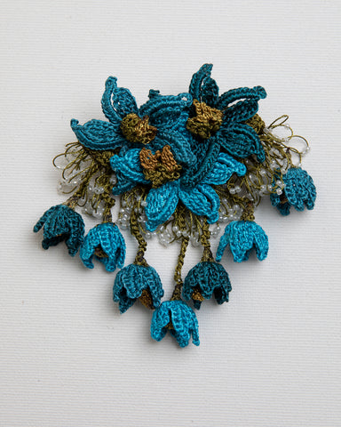 Brooch Star - Teal
