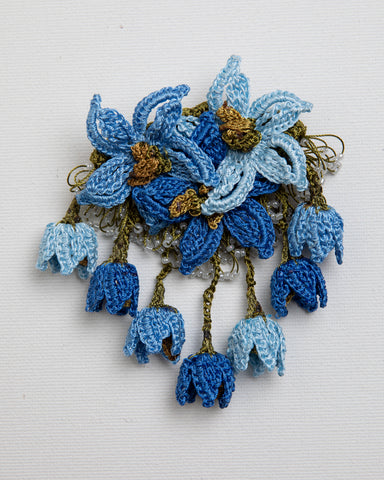 Brooch Star - Indigo