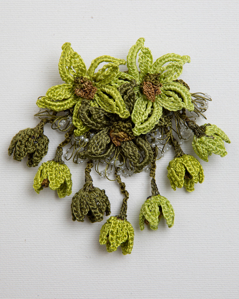 Brooch Star - Chartreuse