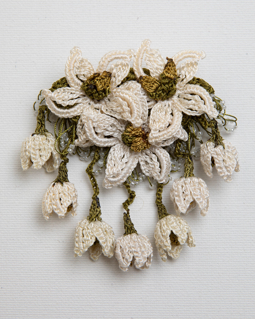 Brooch Star - Ivory