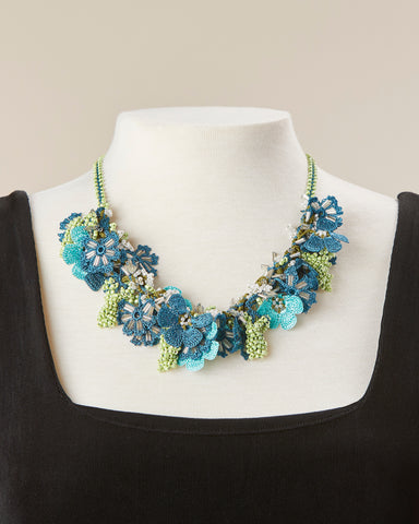 Bouquet Choker - Teal & Turquoise