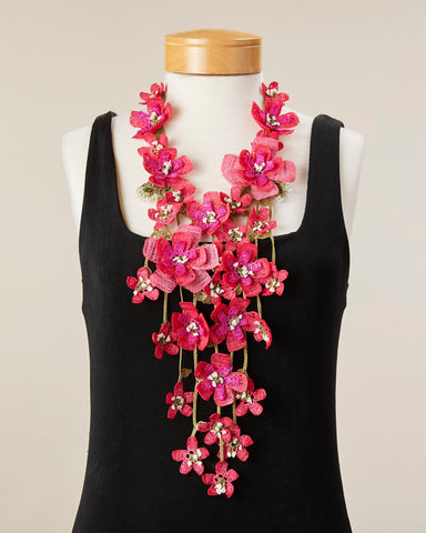 Poppy Necklace - Fuchsia
