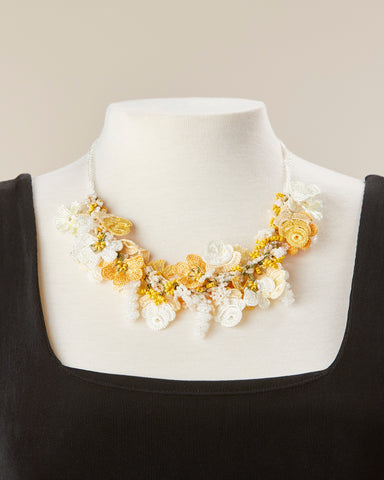 Bouquet Choker - Yellow & White