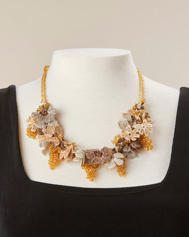 Bouquet Choker - Gold & Copper