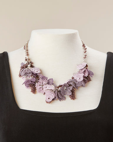 Bouquet Choker - Mauve & Copper
