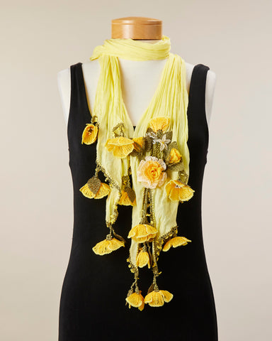 Tulip Scarf - Lemon/Yellow