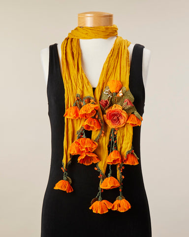 Tulip Scarf - Mustard/Orange