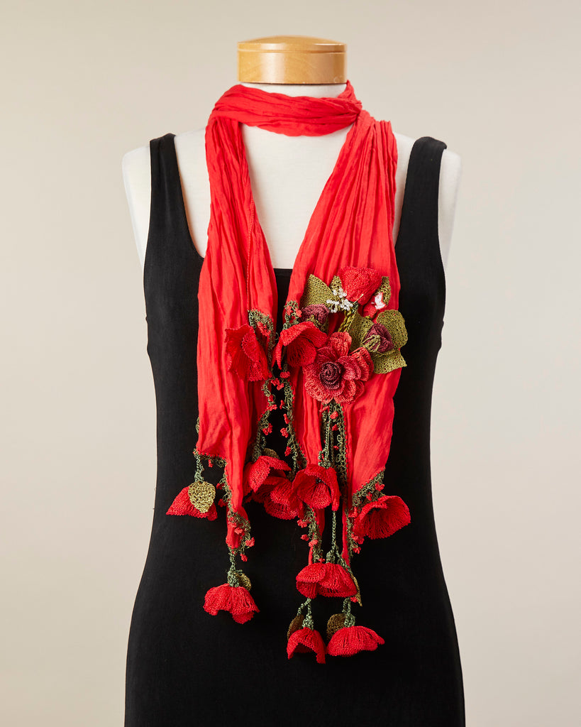 Tulip Scarf - Red/Red