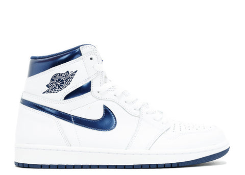 Air Jordan 1 Retro High OG White/Metallic Navy 555088-106