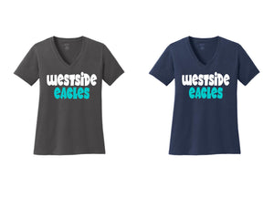 Westside Eagles Ladies V-Neck Short Sleeve Shirt