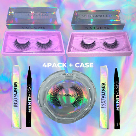 I WANT IT ALL | 4PACK BUNDLE + CASE - Insta Lash Co