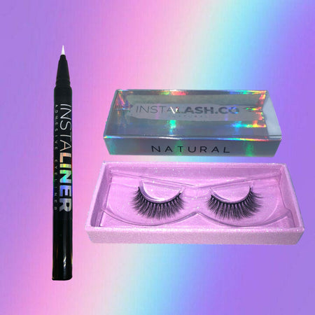 NATURAL BUNDLE Transparent InstaLINER + NATURAL InstaLASH - Insta Lash Co